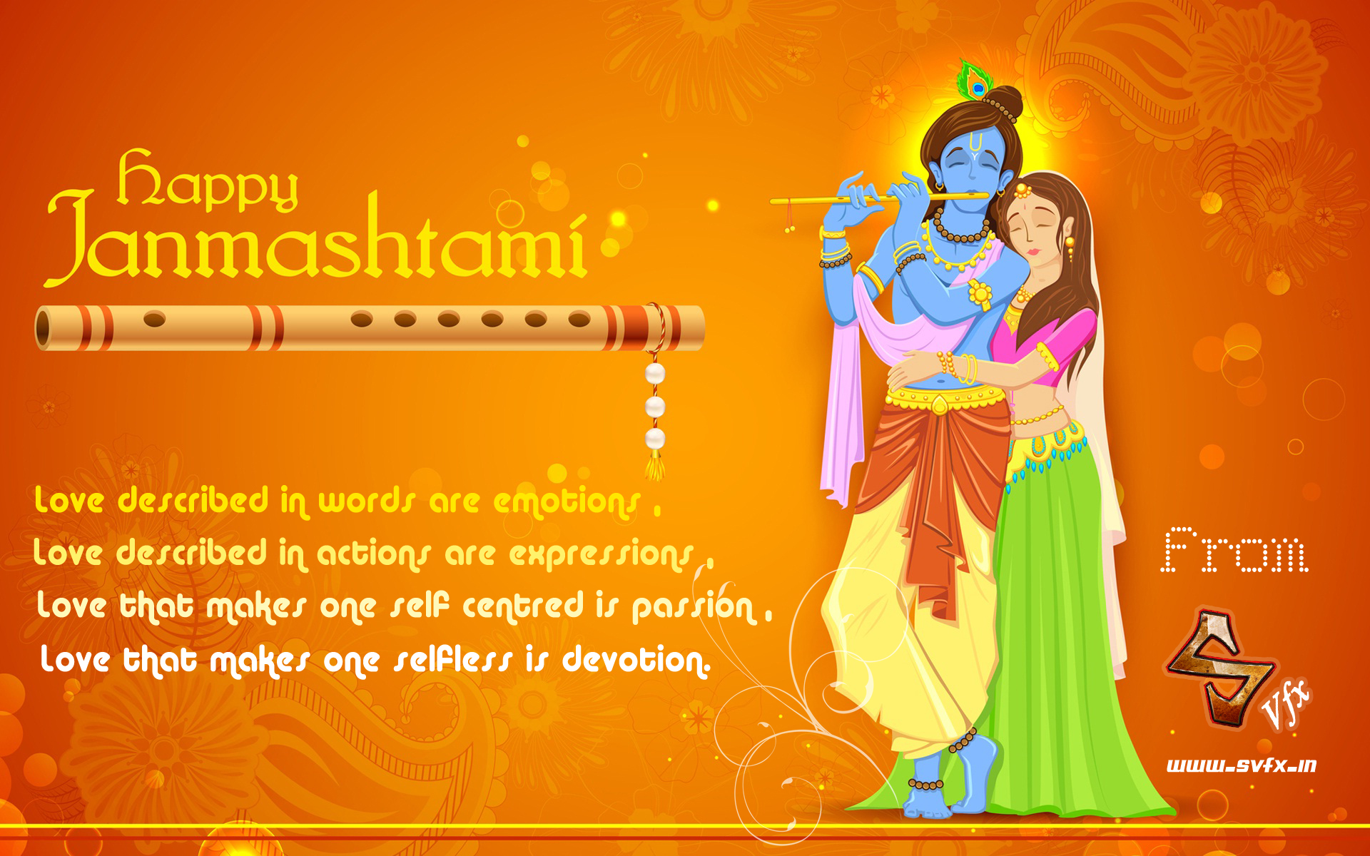 Happy Janmashtami to all from SVFX Animation Studio Pune