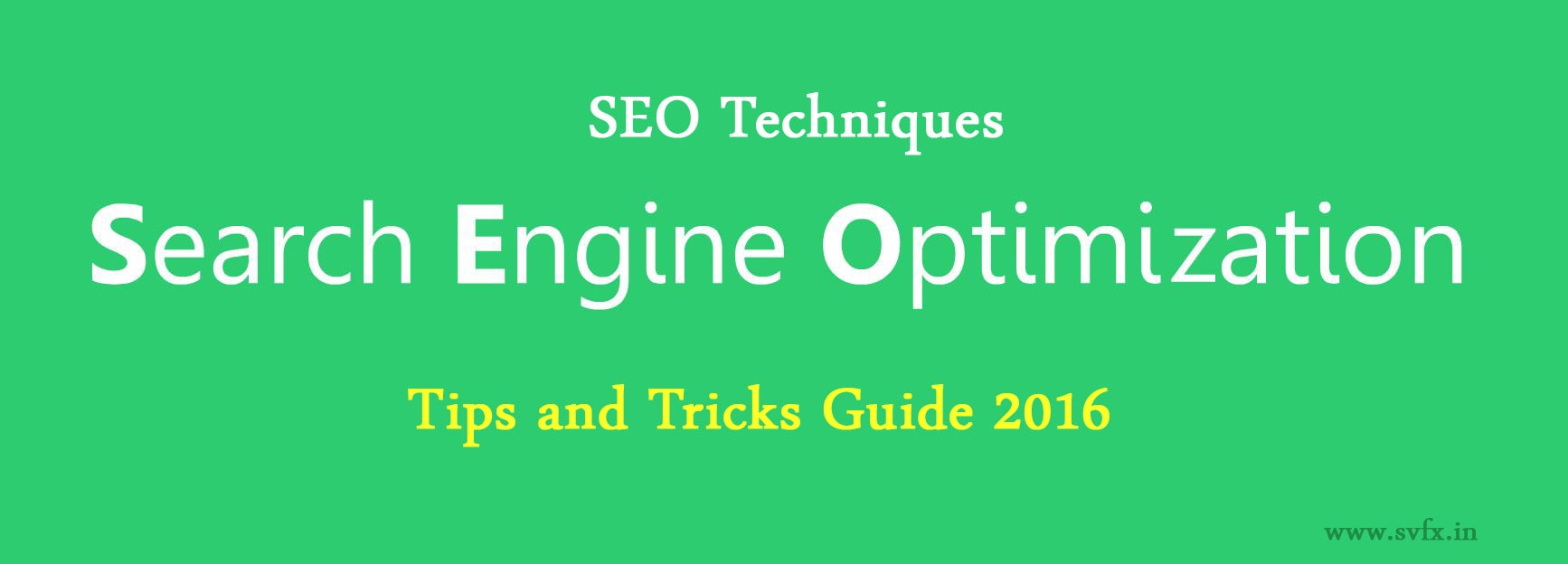 Search Engine Optimization Techniques 2016