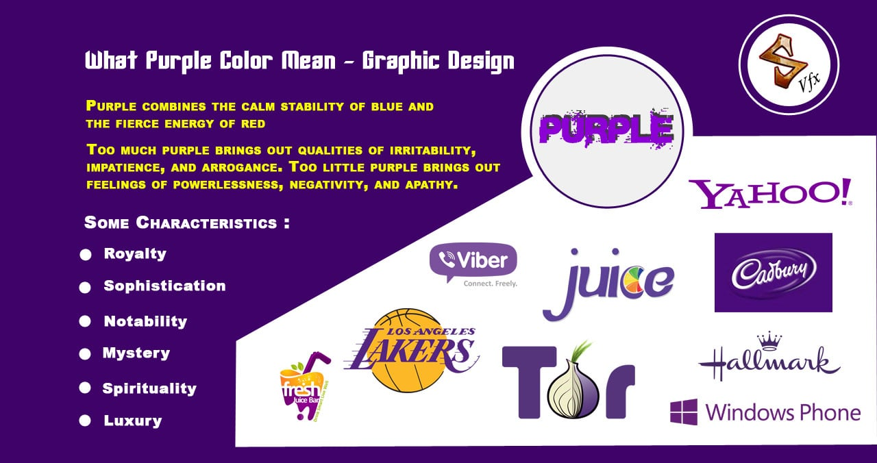 What Purple Color Mean Graphic Design