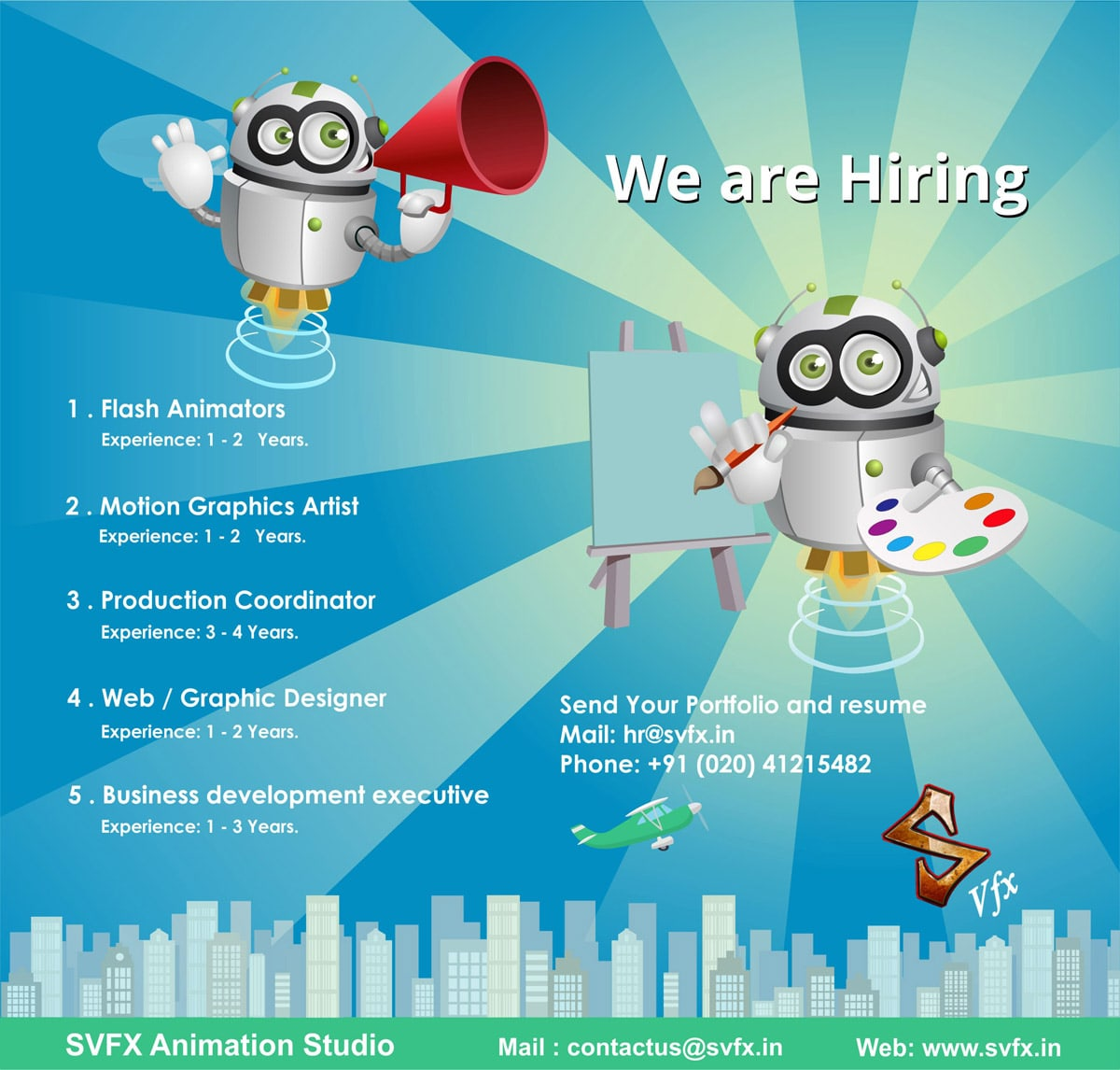Animation jobs in Pune India