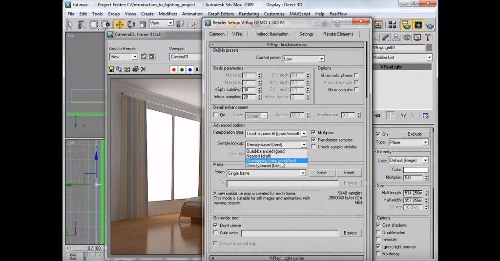 Interior Lighting Rendering Tutorial