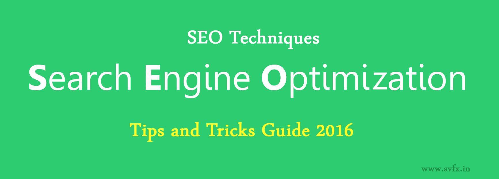 Search Engine Optimization Techniques 2016
