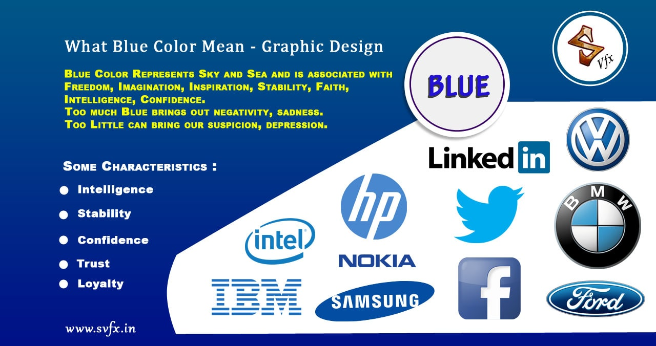 What Blue Color Mean Graphic Design