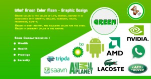 What Green colors mean logo design