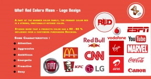 What red colors mean logo design