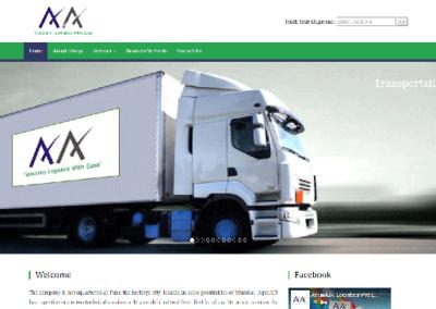 Best Web Design and shipment tracking development for aqua air logistics pune by svfx animation studio pune
