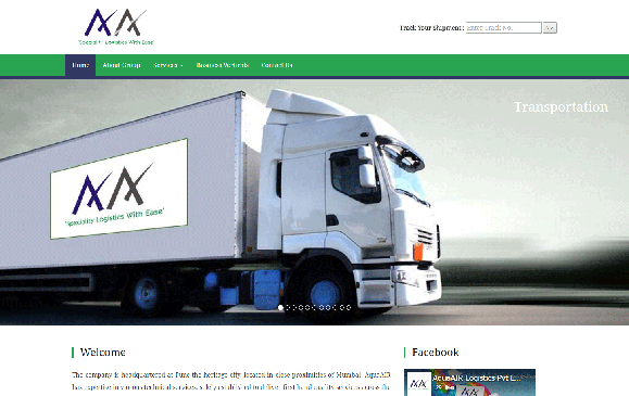Best Web Design and shipment tracking development for aqua air logistics pune by svfx animation studio pune