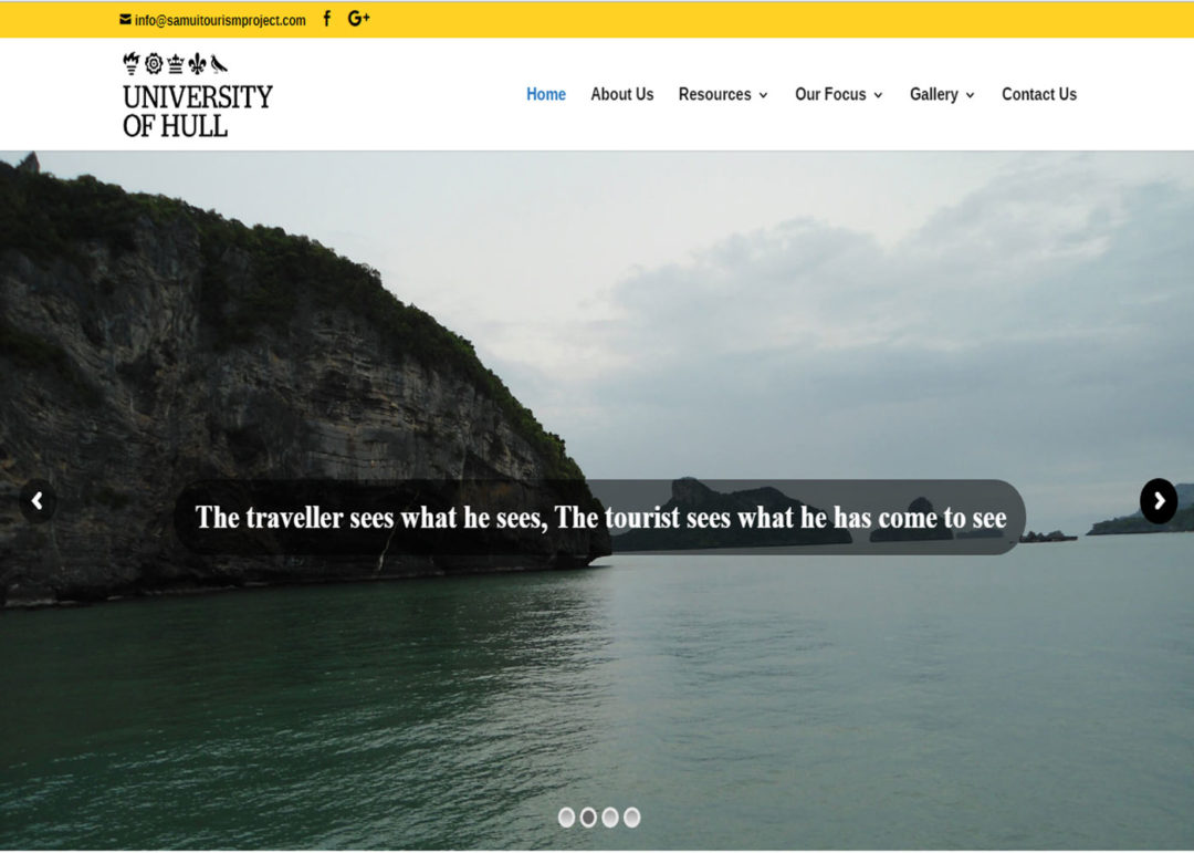 Web Design And Development Project Samui Tourism