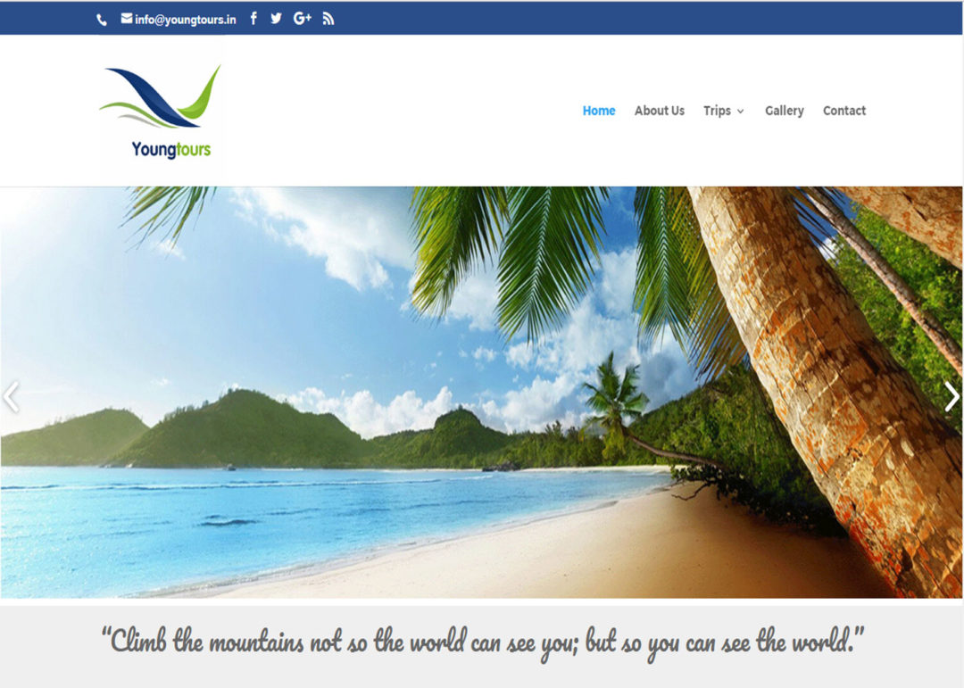Web Design And Development Project Young Tours