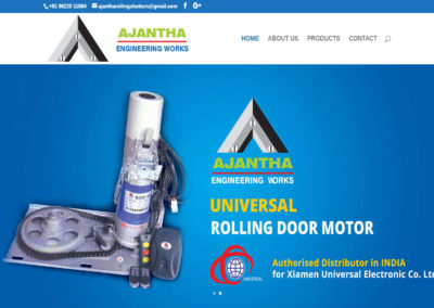 Web Design And Development Project Ajantha Rolling Shutters