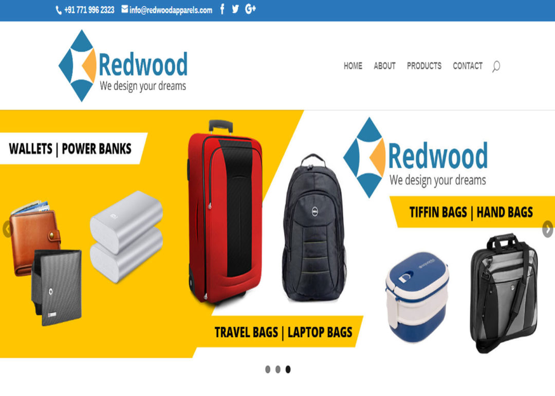 Web Design And Development Project Redwood Apparels