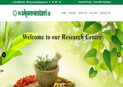 Web Design And Development Project Dhanvantari Hospital