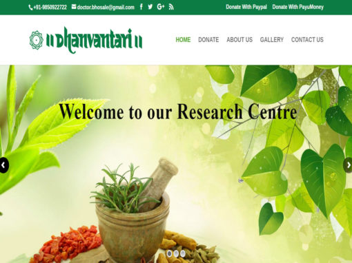 Web Design And Development Project Dhanvantari Hospital