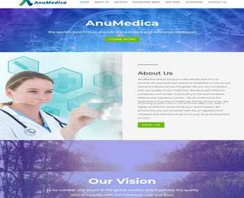 Web Design And Development project AnuMedica Global Services