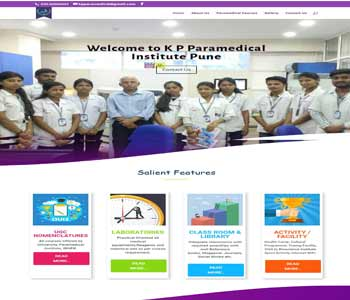 Web Design And Development project KPParamedical college