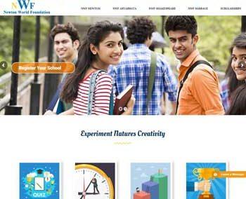 Web Design And Development project Newton World