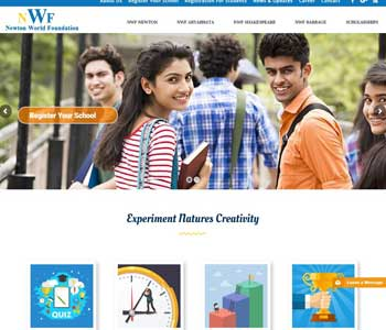 Web Design And Development project Newton World