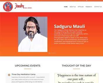 Web Design And Development Project Premgandh Meditation