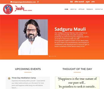 Web Design And Development Project Premgandh Meditation