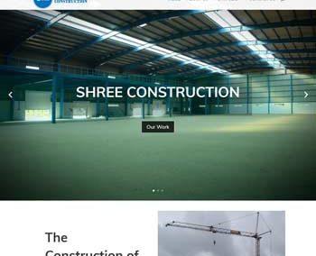 Web Design And Development Project Shree Construction