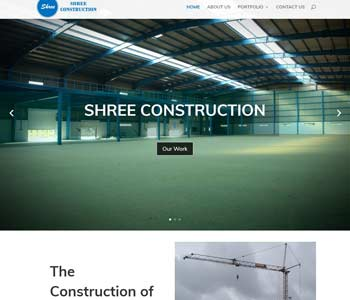 Web Design And Development Project Shree Construction