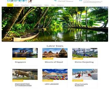 Web Design And Development project ExplorationHolidays