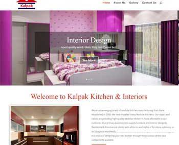 Web Design And Development Project Kalpak Kitchen Interior