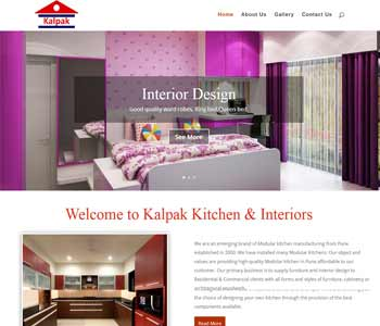 Web Design And Development Project Kalpak Kitchen Interior