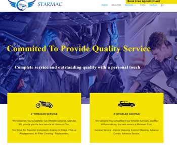 Web Design And Development Project Starmac