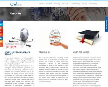 Web Design And Development Project UvTechnocrats