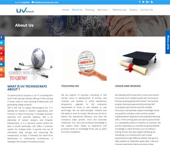 Web Design And Development Project UvTechnocrats